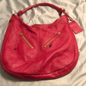Linea Pelle Red large hobo bag